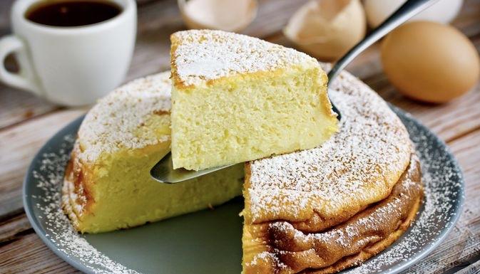 Yoghurt Lemon Starch Pie (no flour)