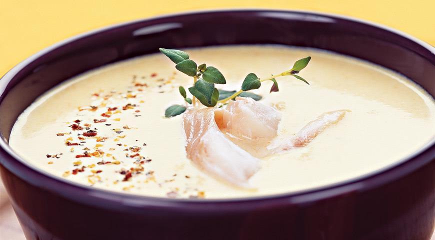 Pumpkin and smoked fish soup