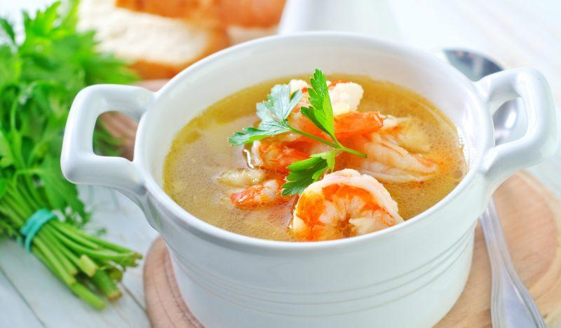 Fish soup with shrimps