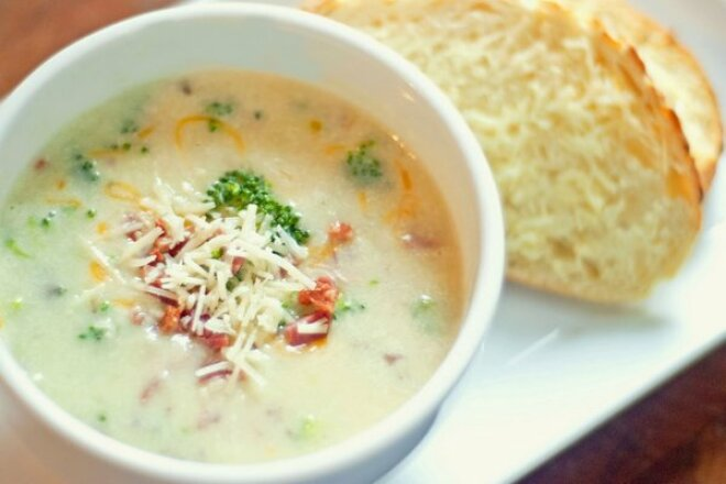 Light creamy vegetable soup