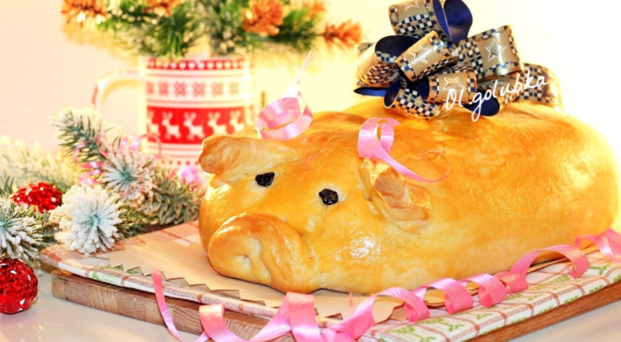Pie with carp and rice (Carp, turn into pig)