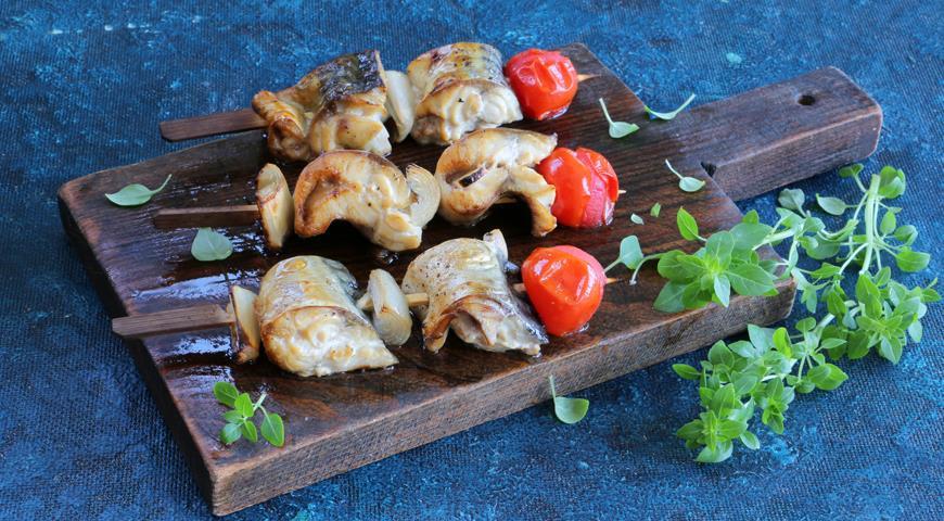Mackerel kebab