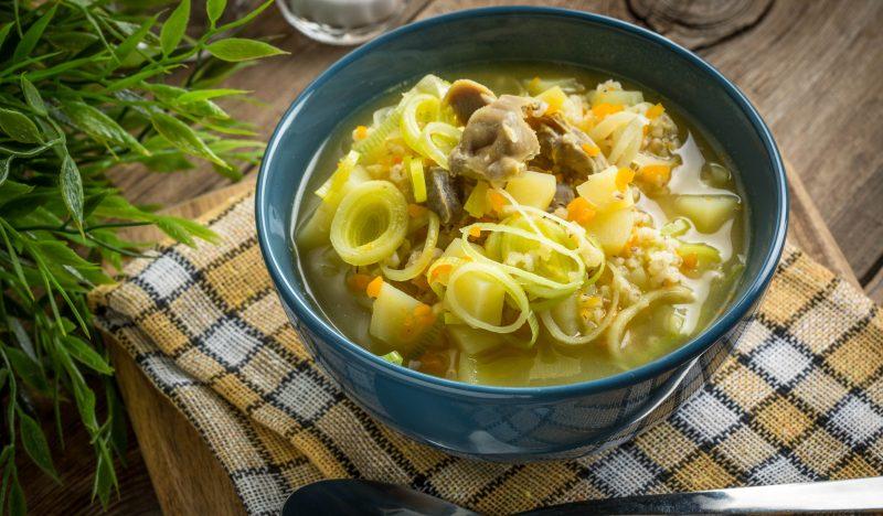 Barley chicken stomach soup