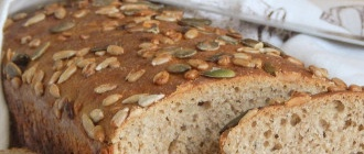 Wheat-rye bread with sourdough seeds