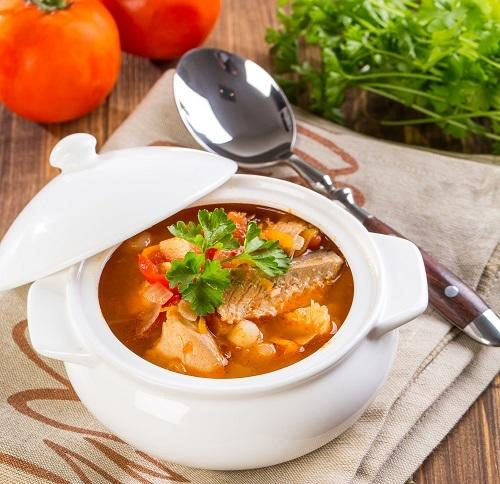 Thick fish soup