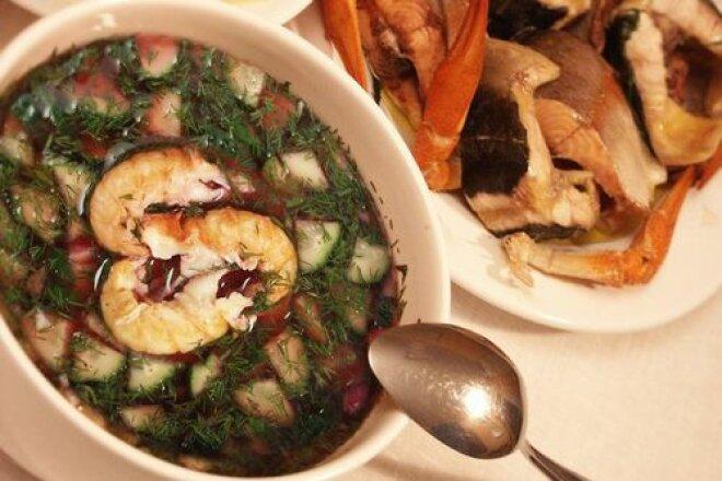 Traditional botvinia with fish