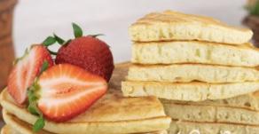 Thick pancakes on kefir
