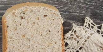 Bread with walnuts in a bread maker