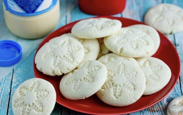 Condensed milk biscuits (no flour)
