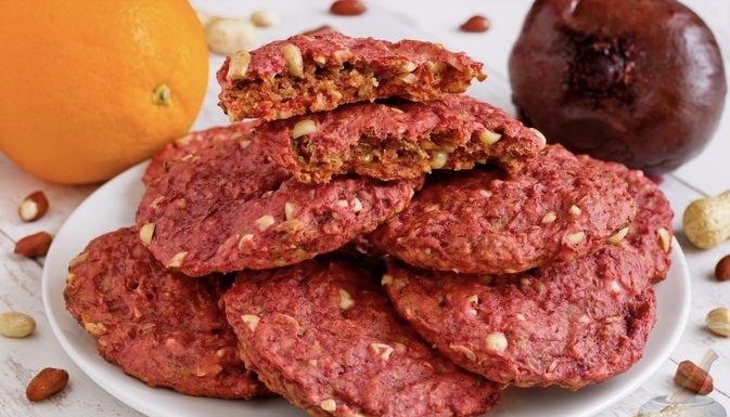 Lean Peanut Beetroot Cookies