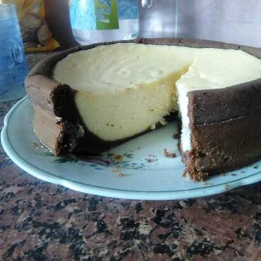 Cottage cheese casserole in chocolate dough