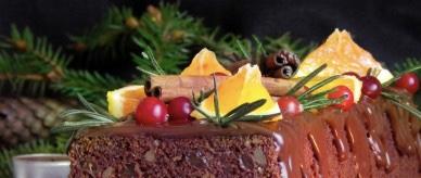 Christmas red wine cupcake