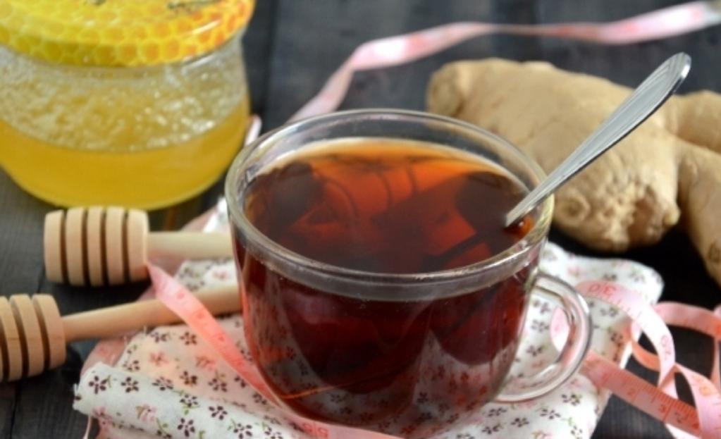 Slimming ginger tea