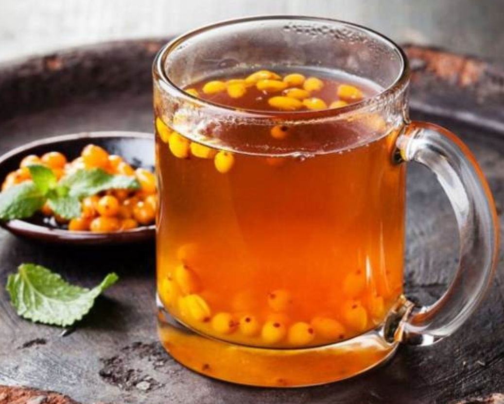 SEA BUCKTHORN TEA WITH SPICIES AND CHILI PEPPER