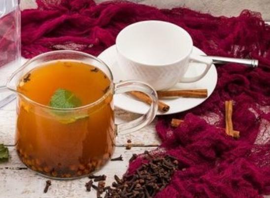 Spicy sea buckthorn tea