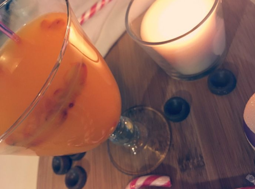 Sea buckthorn tea with pineapple and ginger