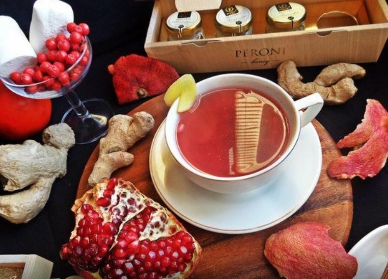 Ginger Pomegranate Tea