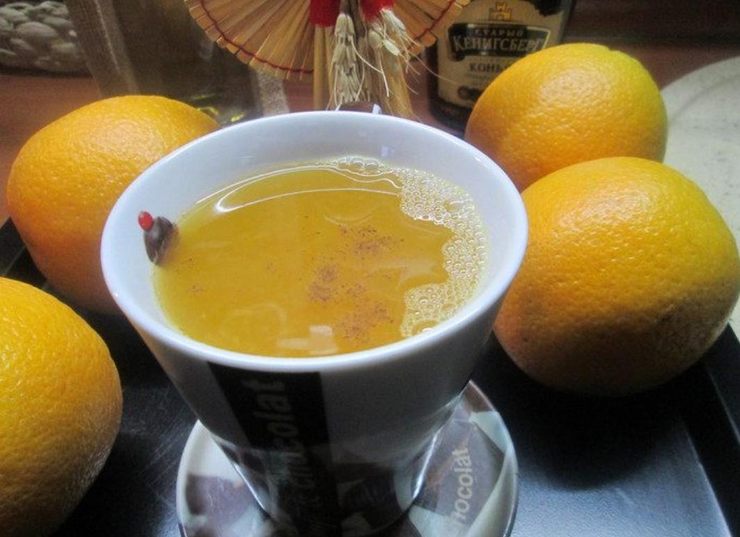 Orange tea with Parisian secrets cognac