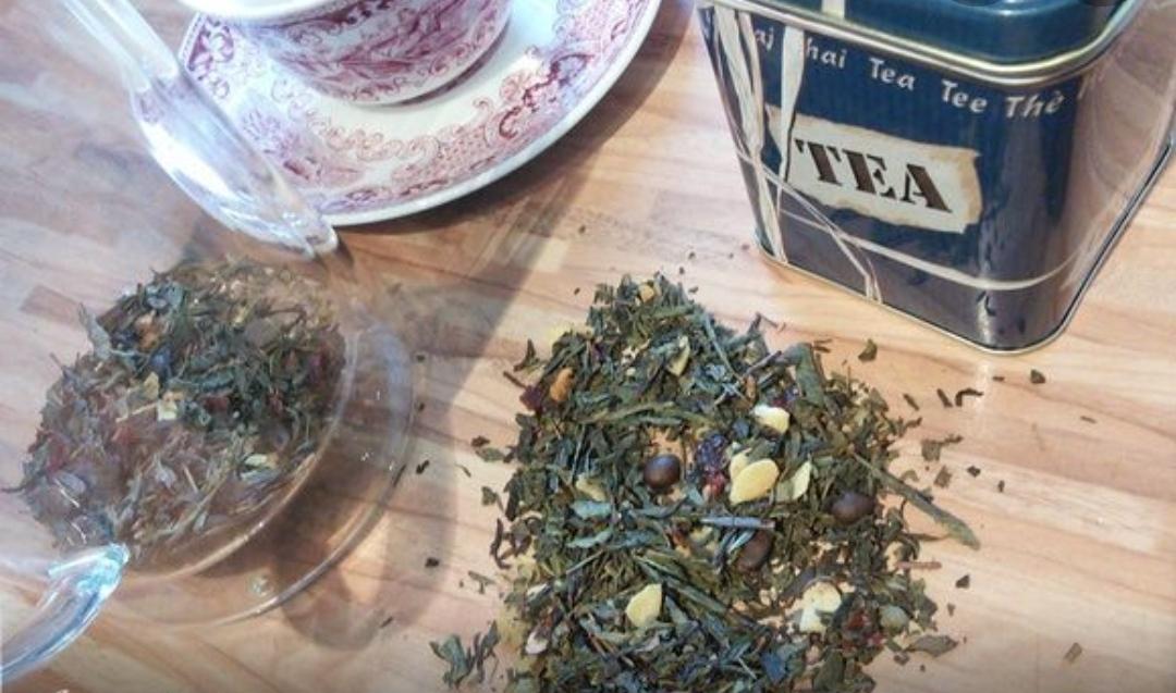 Green aromatic tea