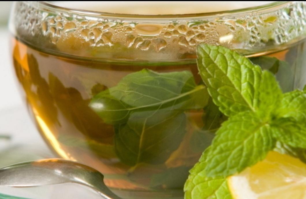 Refreshing lemon balm tea