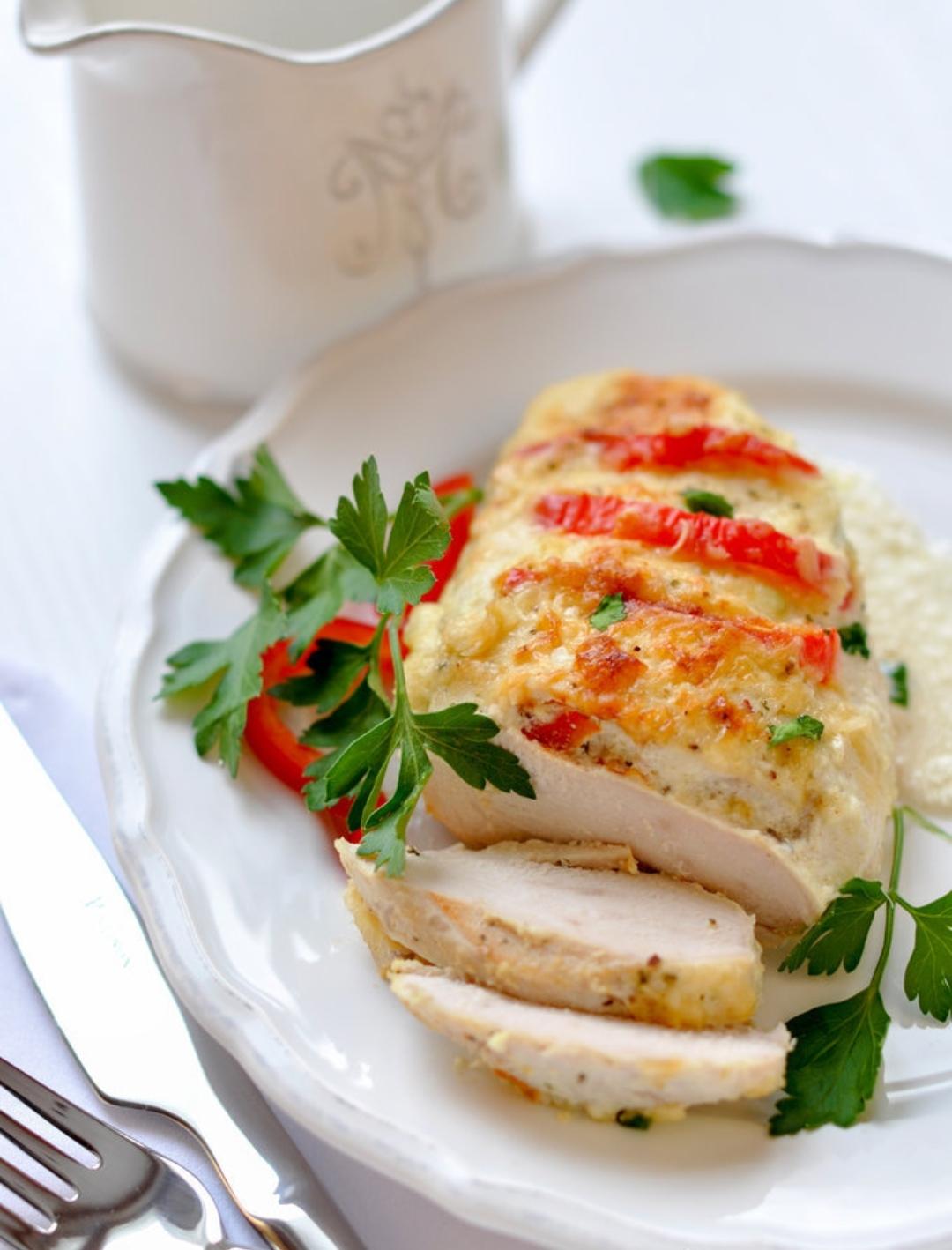 Chicken breast in sour cream sauce