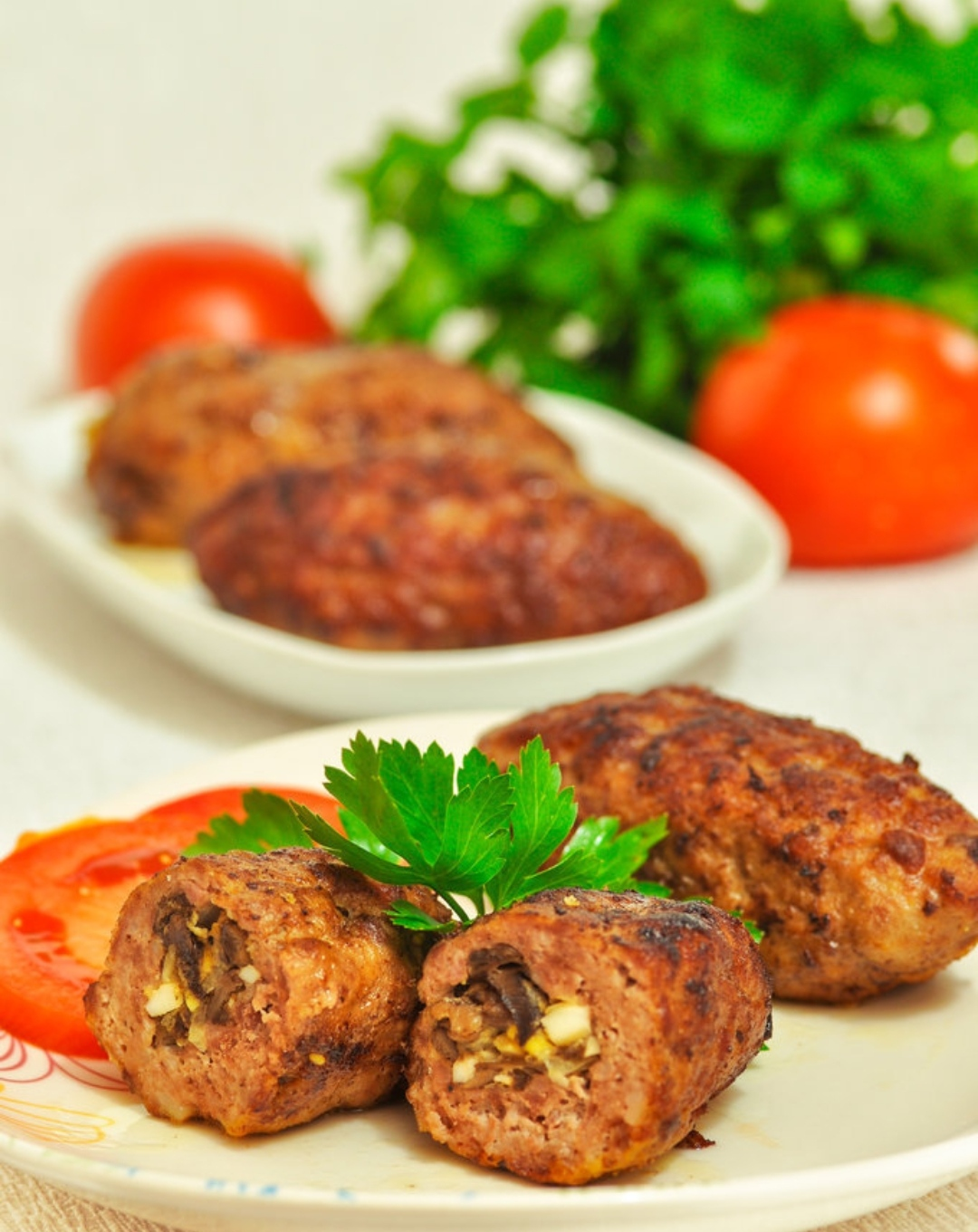 Zrazy with mushrooms, onions and eggs