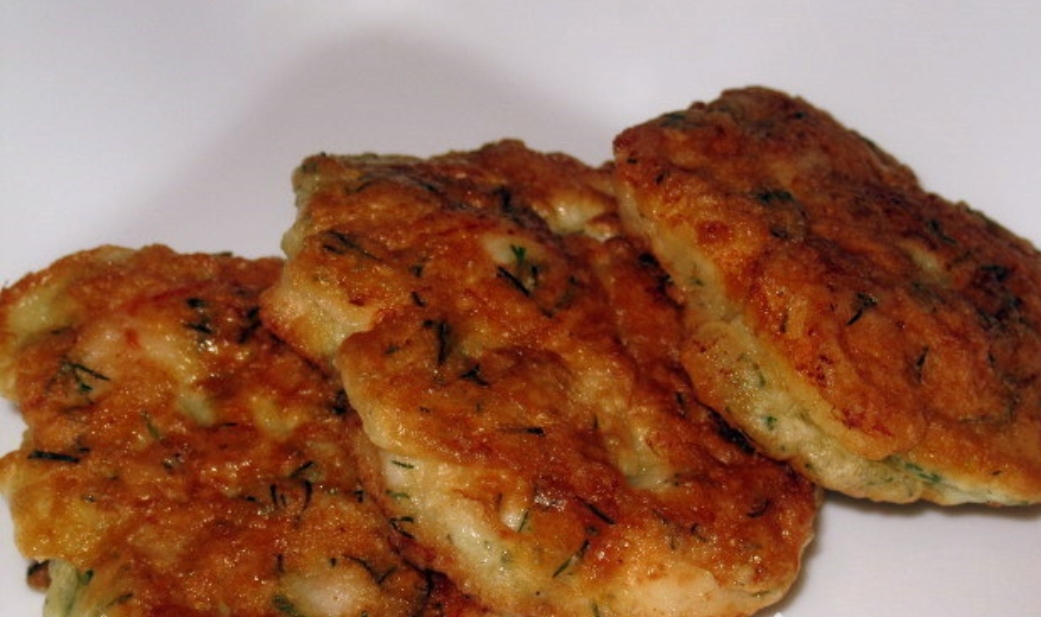 Chicken fillet fritters / cutlets