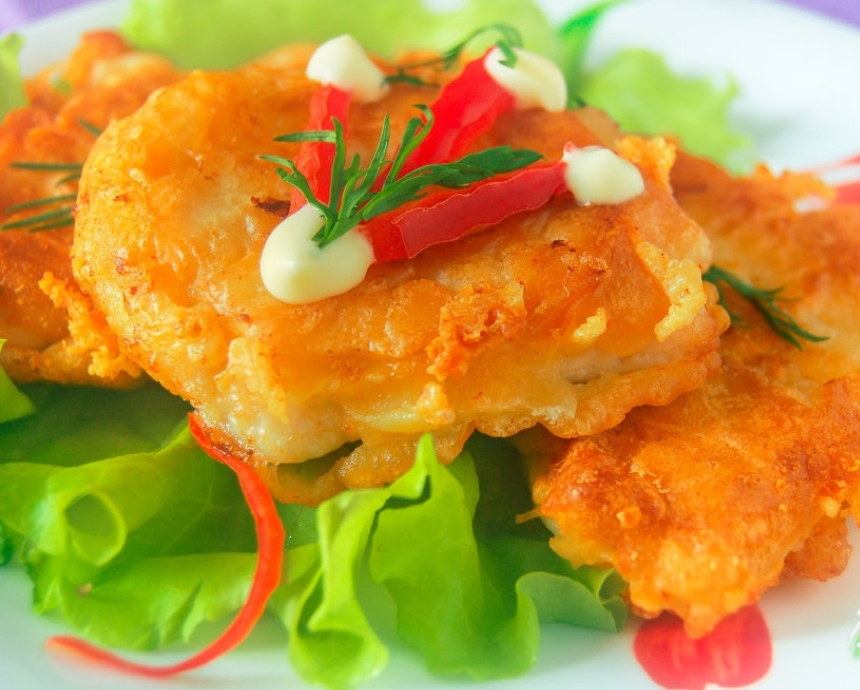Chicken chops with cheese