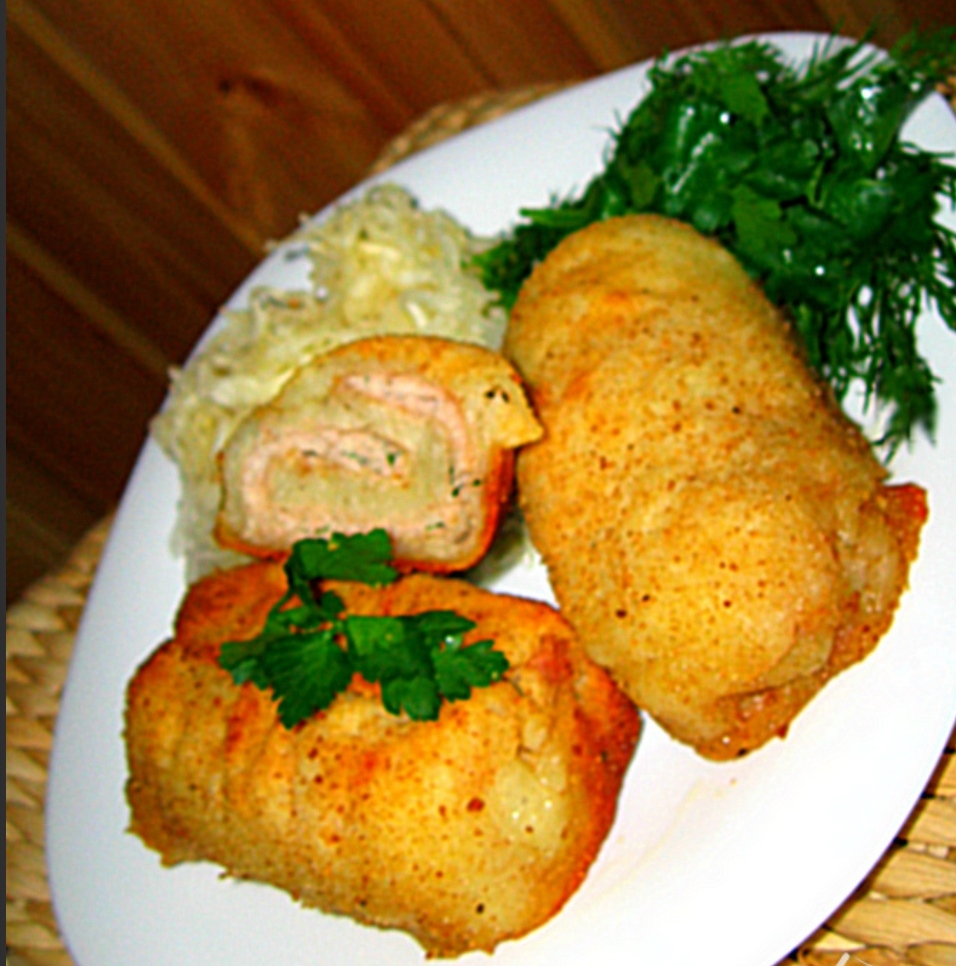 Potato rolls with meat