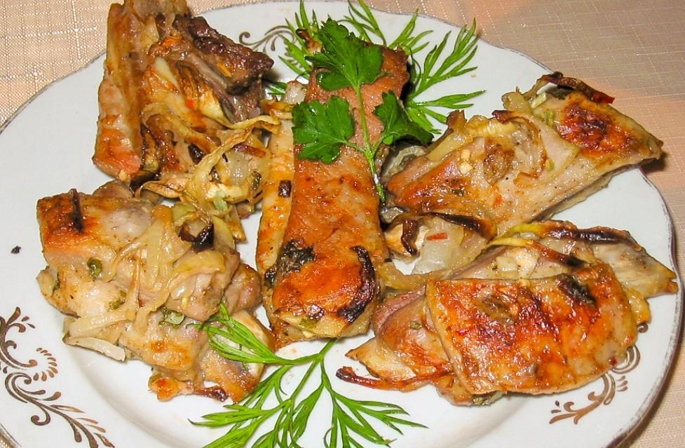 Pork ribs, baked
