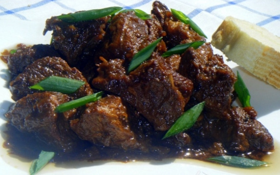 Interesting Jewish cooking of beef