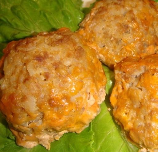 Meat hedgehogs (variant of meatballs)