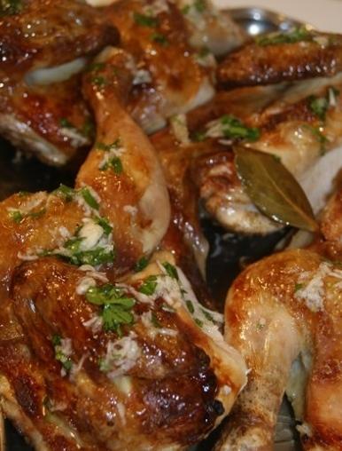 Chicken with garlic sauce