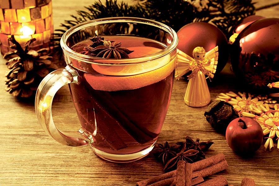 Tea with cognac