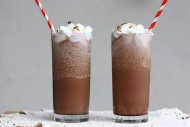 Chocolate cocktail with ice cream