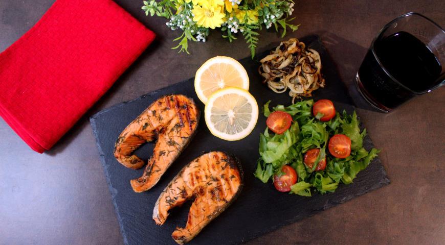Grilled chum salmon