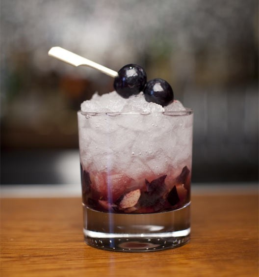 Grape cocktail with ginger