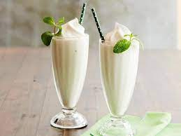 Milkshake with ice cream