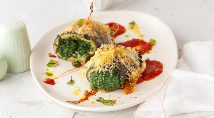 Mediterranean style fish rolls