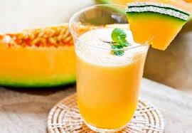 Frozen melon cocktail