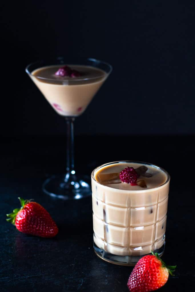Berry and nut martini