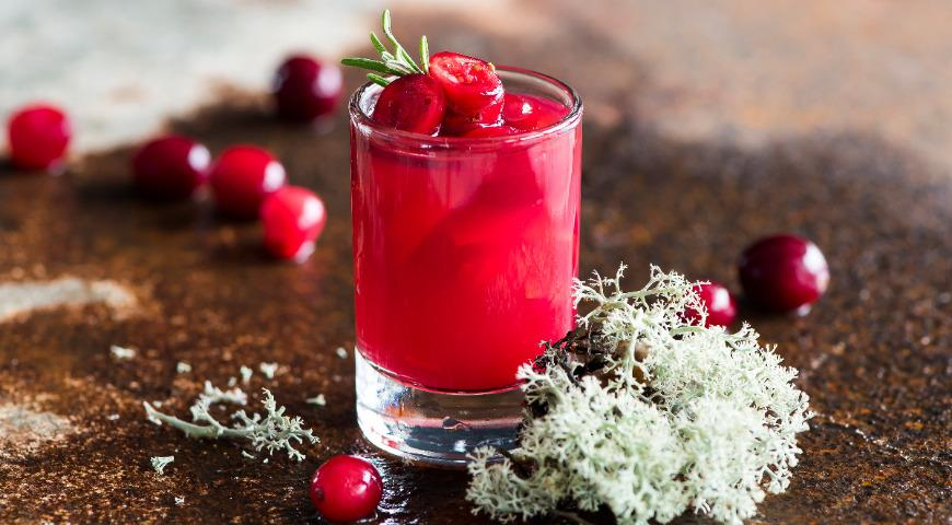 Jelly cocktail Cranberry and Vodka