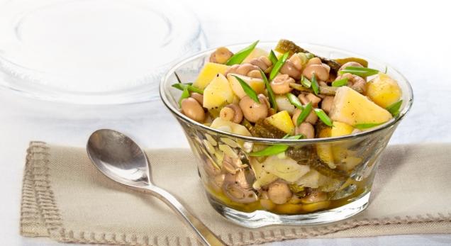 Potato Salad with Pickled Mushrooms