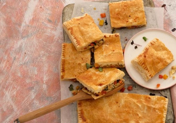 Bryndza Pie, Eggplant and Bell Pepper