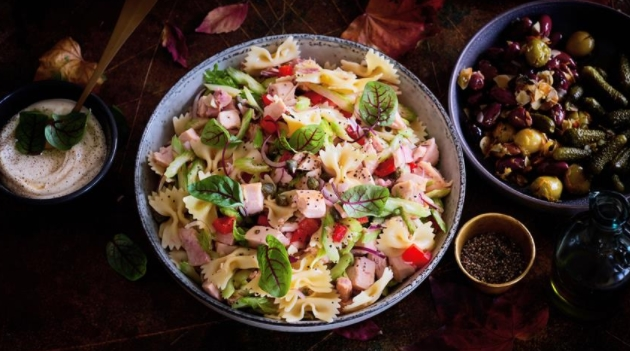 Pasta Salad with Chicken and Celery