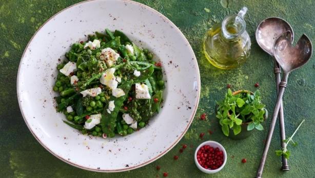 Light Pea, Bean and Mint Salad