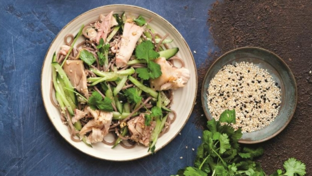 Quick Buckwheat Salad with Grilled Chicken