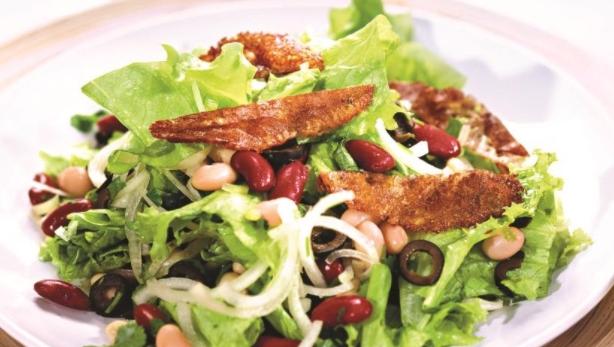 Bean Salad with Suluguni