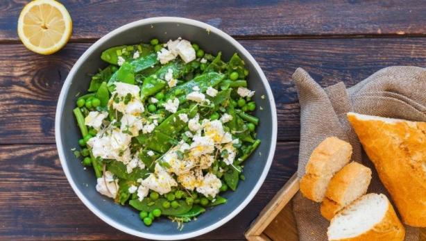 Green Peas, Beans and Feta Salad