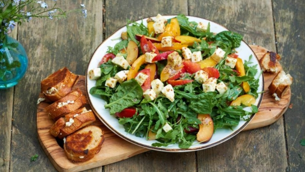 Pickled Cheese and Fruit Salad